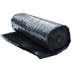24' x 50' Black Film 6 mil Thickness