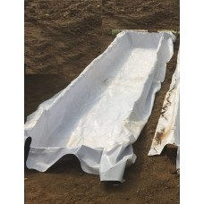 "28"" Inch wide 6 mil black/white plastic sheeting rows at various lengths"